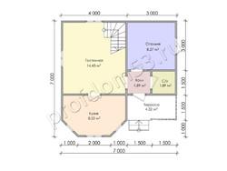 Дом из бруса проект Бахрам - вид 3