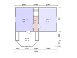 Дом из бруса проект Бахрам - вид 4