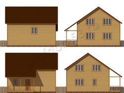 Дом из бруса проект Блез - вид 2