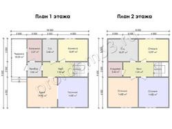 Дом из бруса проект Блез - вид 3