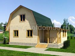 Дом из бруса проект Боеслав - вид 1