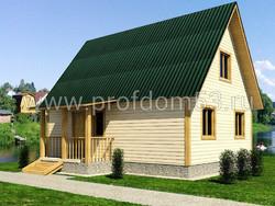 Дом из бруса проект Богдан - вид 1