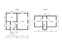 Дом из бруса проект Богдан - вид 2