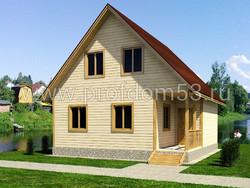 Дом из бруса проект Борислав - вид 1