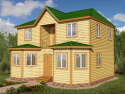 Дом из бруса проект Бронислав - вид 1