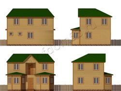 Дом из бруса проект Бронислав - вид 2