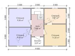 Дом из бруса проект Бронислав - вид 4
