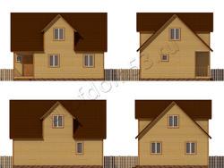 Дом из бруса проект Булат - вид 2