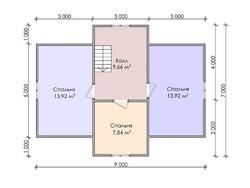 Дом из бруса проект Булат - вид 4