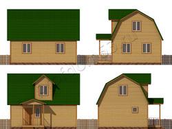 Дом из сухого бруса проект Чарльз - вид 2