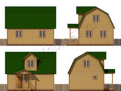 Дом из бруса проект Чарльз - вид 2