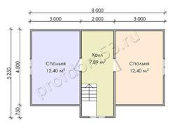 Дом из сухого бруса проект Чарльз - вид 4