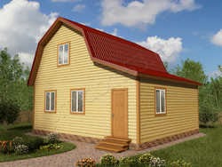 Дом из бруса проект Далмат - вид 1