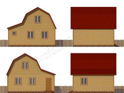 Дом из бруса проект Далмат - вид 2