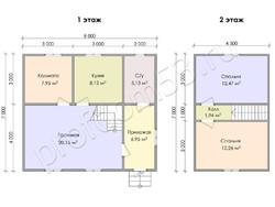 Дом из бруса проект Далмат - вид 3