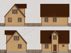 Дом из бруса проект Даниил - вид 2