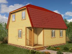 Дом из бруса проект Данислав - вид 1