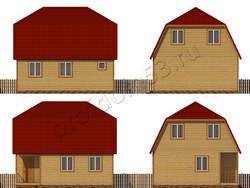 Дом из бруса проект Данислав - вид 2