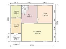 Дом из бруса проект Данислав - вид 3