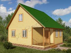 Дом из бруса проект Данияр - вид 1