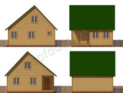 Дом из бруса проект Данияр - вид 2