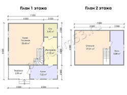 Дом из бруса проект Данияр - вид 3