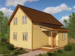 Дом из сухого бруса проект Даурен - вид 1