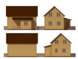 Дом из сухого бруса проект Даурен - вид 2