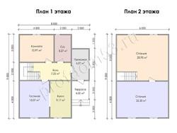 Дом из сухого бруса проект Даурен - вид 3