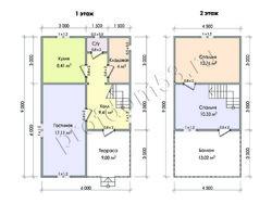 Дом из бруса проект Давид - вид 2