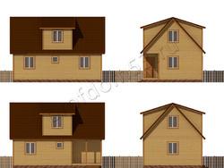Дом из бруса проект Давлат - вид 2