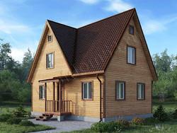 Дом из сухого бруса проект Демид - вид 1