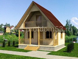 Дом из бруса проект Демьян - вид 1