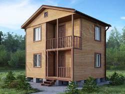 Дом из бруса проект Денис-1 - вид 1