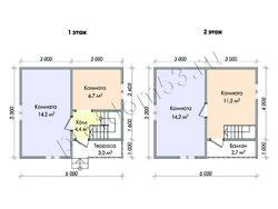 Дом из бруса проект Денис-1 - вид 2