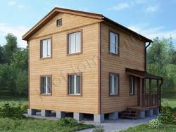 Дом из сухого бруса проект Денис-2 - вид 1