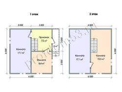 Дом из бруса проект Денис-2 - вид 2
