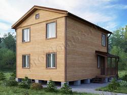 Дом из бруса проект Денис-3 - вид 1