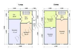 Дом из бруса проект Денис-3 - вид 2