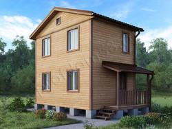 Дом из бруса проект Денис-4 - вид 1