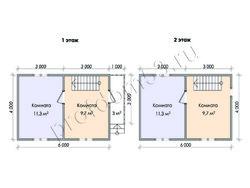 Дом из бруса проект Денис-4 - вид 2