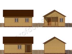 Дом из бруса проект Дик - вид 2