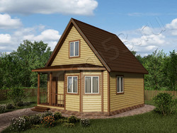 Дом из бруса проект Динар - вид 1