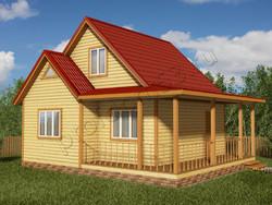 Дом из бруса проект Дино - вид 1
