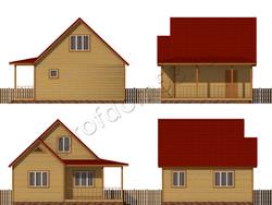 Дом из сухого бруса проект Дино - вид 2