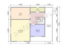 Дом из сухого бруса проект Дино - вид 3