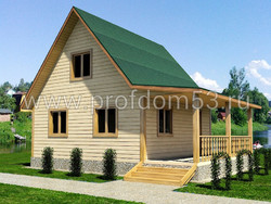Дом из бруса проект Дмитрий - вид 1