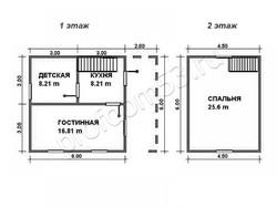 Дом из бруса проект Дмитрий - вид 2