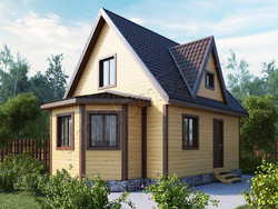 Дом из бруса проект Добрыня - вид 1