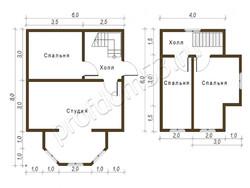 Дом из бруса проект Добрыня - вид 2